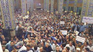 عکس/ محل سخنرانی رئیسی در جمع مردم یزد