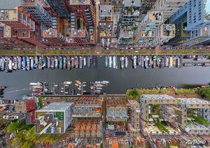 عکس/ نمایی زیبا از بندر آمستردام