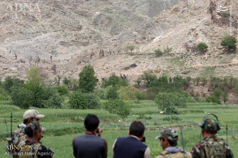 """محل اصابت """"مادر بمبها"""" در افغانستان"""