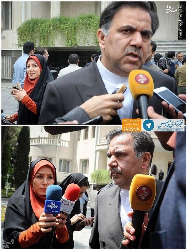 ترس خبرنگار صداوسیما از وزیر راه!