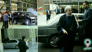 عکس/ عوض شدن خودروی روحانی نزدیک انتخابات!