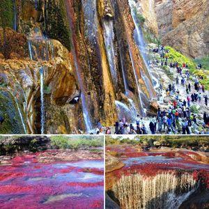 عکس/ چشمه زیبای هفت رنگ در ایران