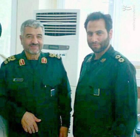 شهید سیدحمید حسینی و سردار عزیز جعفری