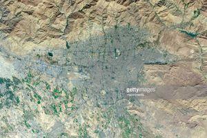 عکس فضایی از شهر تهران