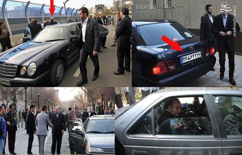 نکته دیگر اینکه علی لاریجانی در بسیاری از مراسم ها از این خودرو استفاده می کند؛ شماره پلاک هر دو خودرو یکی است.