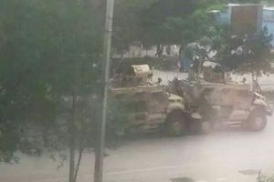 اولین تصاویر از انفجار در نزدیکی سفارت آمریکا در کابل 