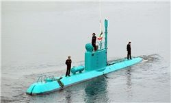 شلیک موفق موشک کروز از زیردریایی کلاس غدیر +عکس