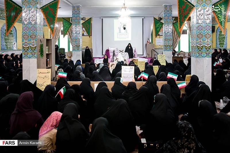 سخنرانی جمیله علم الهدی در جمع مردم کرج