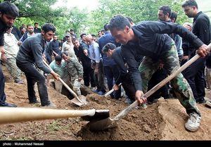 عکس/ تشییع پیکر جانباختگان حادثه معدن یورت