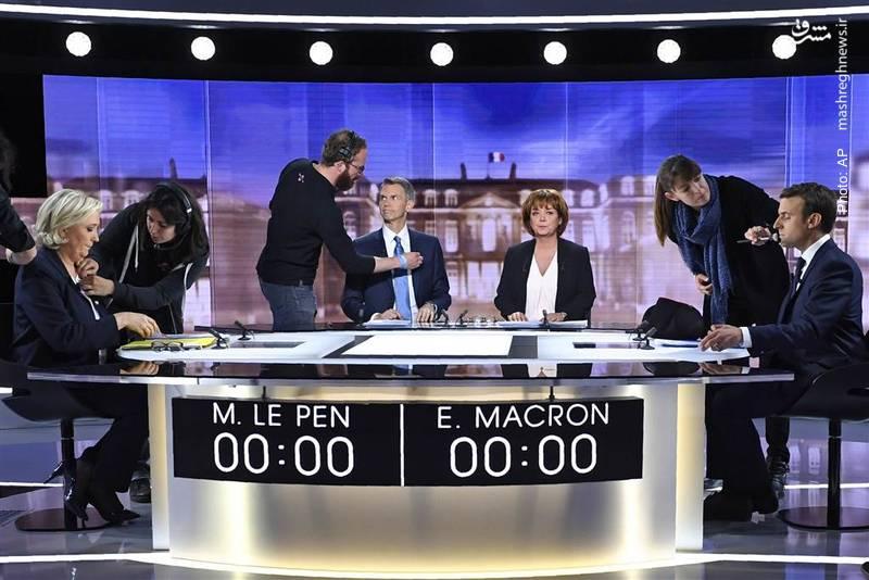 مناظره انتخاباتی مارین لوپن و امانوئل ماکرون در آستانه انتخابات ریاستجمهوری فرانسه
