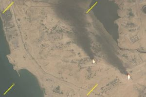 دودی که با مشعل سوزی به چشم اهالی جزیره خارک میرود + تصاویر ماهوارهای