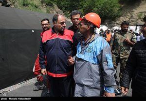 عکس/ بازدید وحیدحقانیان  از عملیات نجات معدنچیان