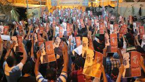 خروش مردم بحرین در شب محاکمه آیتالله عیسی قاسم