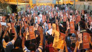 تظاهرات بحرینیها در شب محاکمه آیتالله عیسی قاسم +عکس