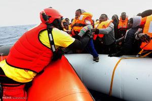 مرگ 11مهاجر و ناپدید شدن 200نفر دیگر در مدیترانه
