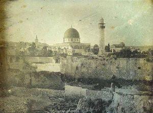 نخستین عکس ثبت شده از مسجدالاقصی