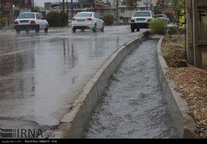 بارش تگرگ و آبگرفتگی معابر یاسوج