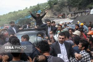 عکس/ اعتراض شدید معدنچیان به روحانی