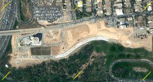 مراحل ساخت بوستان آب و آتش + تصاویر ماهوارهای