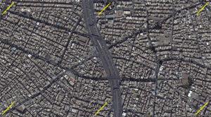 بزرگراه امام علی (ع)+ تصاویر ماهوارهای