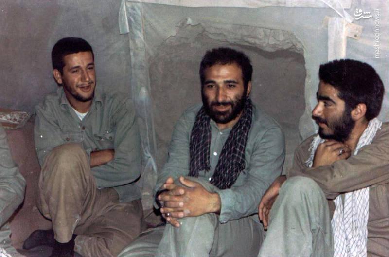 از راست: شهید «داوود آجرلو»، شهید «رمضان ناظریان»، شهید «حاج حسین اسکندرلو»،