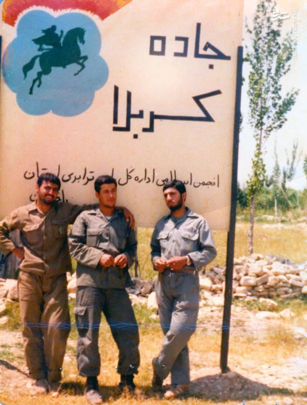 شهید «حاج حسین اسکندرلو»(نفر وسط)
