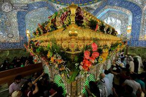 عکس/ گلآرایی ضریح حضرت علی(ع) به مناسبت جشن نیمه شعبان