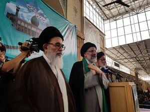 عکس/ همراهی آیت الله دستغیب با رئیسی در شیراز