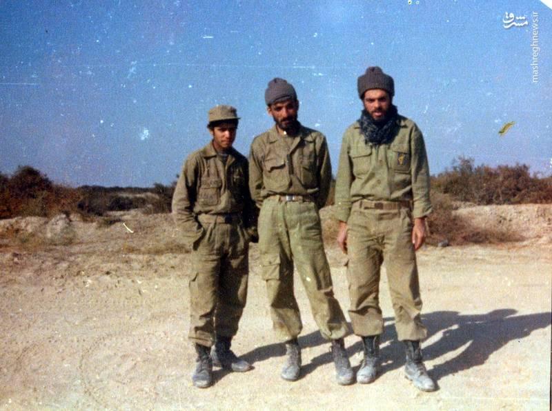 شهید احمد بابایی(نفر وسط)