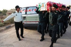 تشییع پیکر دو شهید نیروی انتظامی در حادثه تروریستی اهواز