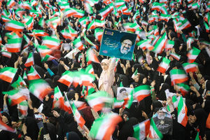 عکس/ سنگتمام مردم تهران برای رئیسی