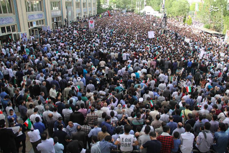 اجتماع بزرگ حامیان رئیسی در مصلی تهران