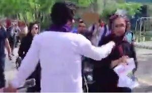 فیلم/ حامیان روحانی در جمع هواداران رئیسی در مصلی تهران