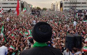 فیلم/ فریاد یکصدای حامیان رئیسی در مشهد