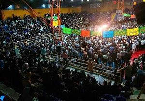 عکس/ قیام مردم بروجرد در حمایت از سید ابراهیم رئیسی