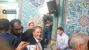 عکس/ حضور جهانگیری در حسینیه ارشاد
