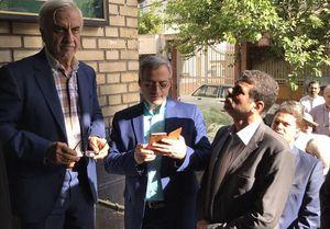 هاشمیطبا رای خود را به صندوق انداخت +عکس