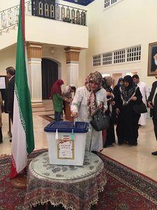 عکس/ صندوق رای سفارت ایران در عمان