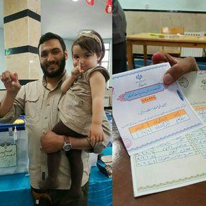 عکس/ رای جانباز مدافع حرم بدون اثر انگشت
