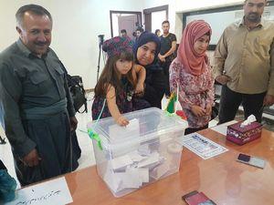 عکس/ رای گیری در شهر سلیمانیه در اقلیم کردستان