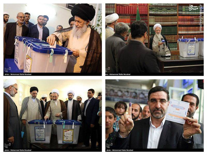 حضور چهرهها در پای صندوق رای