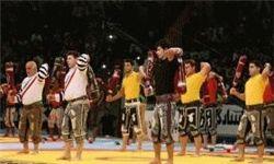برگزاری مسابقات زورخانه ای و کشتی پهلوانی اکو در کیش