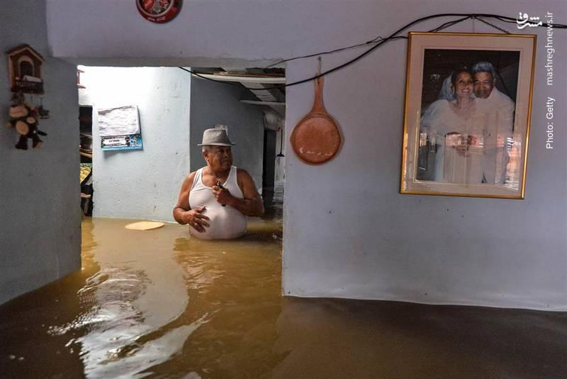 طغیان رودخانهها بر اثر بارش سیلآسا در کالیِ کلمبیا
