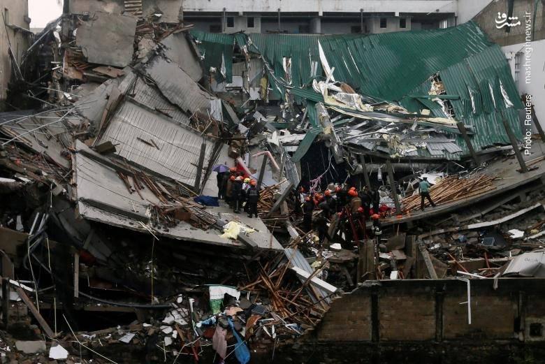 فروریختن یک ساختمان در کلمبو، سریلانکا