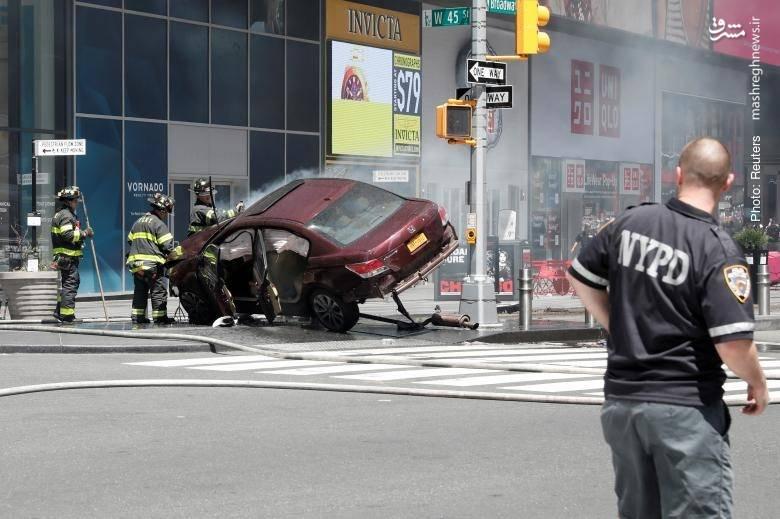 مرگ یک دختر هجده ساله بر اثر رانندگی دیوانهوار سرباز نیروی دریایی آمریکا در پیادهروهای میدان تایمز نیویورک