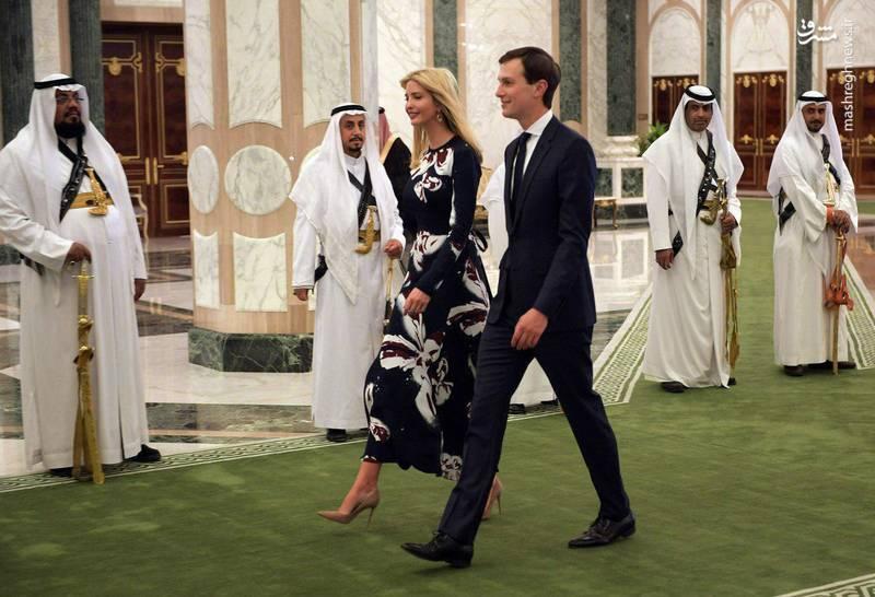 نگاه معنی دار درباریان سعودی به دختر ترامپ