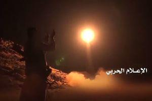 فیلم/ شلیک موشک «برکان2» ارتش یمن به ریاض