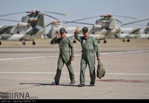 عکس/ رونمایی از 12 بالگرد بازسازی شده ارتش