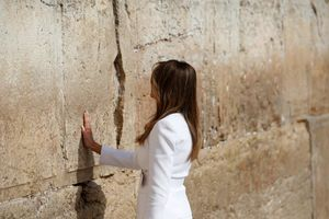 عکس/ اقدام جنجالی همسر و دختر ترامپ در بیت المقدس
