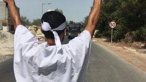 عکس/ درگیری نیروهای آل خلیفه با کفن پوشان انقلابی